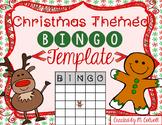 Christmas BINGO Template! 3 Sizes & 2 Designs!