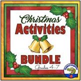 Christmas Activities BUNDLE - Fun ELA Holiday Resources for Grades 4 - 8