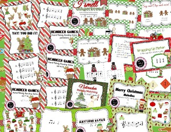 Christmas BUNDLE ~ 30 songs, activities & games for rhythm and melody