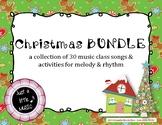 Christmas BUNDLE ~ 30 songs, activities & games for rhythm