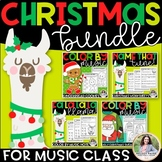 Christmas BUNDLE for the Music Classroom {Coloring, Note N