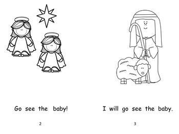 Christmas Baby Jesus Guided Reader & ELA Activities