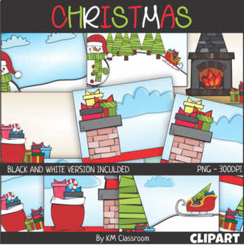 Christmas Background Scenes ClipArt