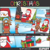 Background Christmas Scenes Clipart