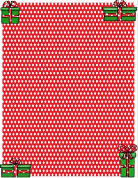 Christmas Background FREEBIE Holiday Frame FREE Presents Gifts