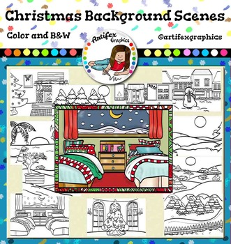 Christmas Background Scenes Clip Art