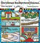 Christmas Background Scenes Clip Art