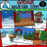 Christmas Background Scenes Clip Art Set - Chirp Graphics