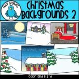 Christmas Backgrounds 2 Clip Art Set - Chirp Graphics