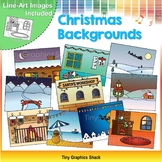 Christmas Backgrounds Clip Art