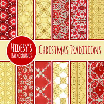 Christmas Backgrounds / Digital Papers / Patterns Clip Art