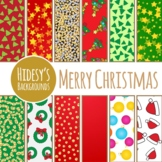 Christmas Backgrounds / Digital Papers / Patterns Clip Art Set Commercial Use