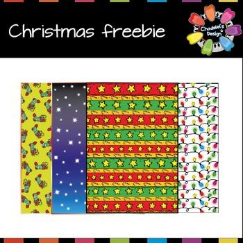 Christmas Backgrounds Freebie