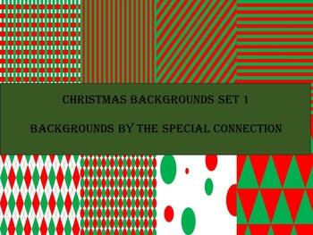 Christmas Backgrounds: Set 1