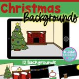 Christmas Backgrounds for Boom Cards™ - Digital Task Card