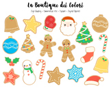 Christmas Cookies Clipart - PNG Cute Clip Art Graphics - Small Commercial Use