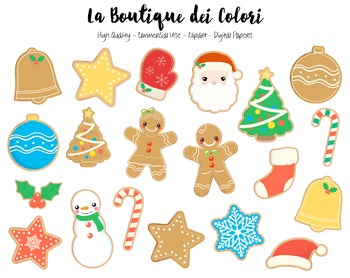 Christmas Cookies Clipart - PNG Cute Clip Art Graphics - S