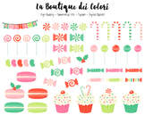 Christmas Candy Clipart - PNG Cute Clip Art Graphics - For Small Commercial Use