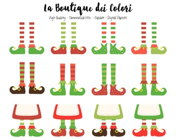 Christmas Elfs Feet Clipart - PNG Cute Clip Art Graphics - Small Commercial Use
