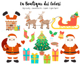 Christmas Santa's sleigh Clipart - PNG Cute Clip Art - Small Commercial Use