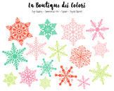 Christmas Snow Clipart - PNG Cute Snowflake Clip Art - Small Commercial Use