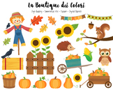 Autumn Pumpkin Harvest Clipart - PNG Cute Fall Clip Art -
