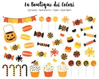 Halloween Candy Clipart - PNG Cute Clip Art Graphics - For