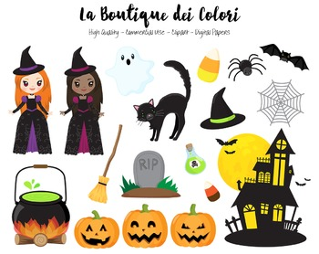 Halloween Clipart - PNG Cute Clip Art Graphics - For Small Commercial Use