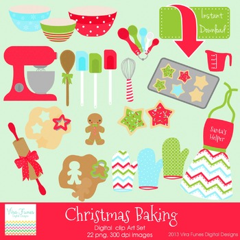 Christmas Baking Digital clip art Clipart Collection