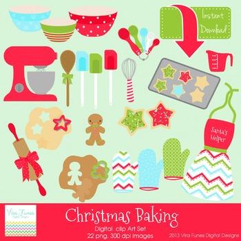 Christmas Baking Digital clip art Clipart Collection