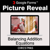Christmas: Balancing Addition Equations - Google Forms Mat