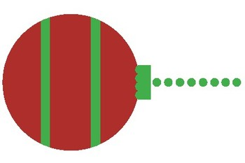 Christmas Ball Decoration Blank Editable Label Flashcards
