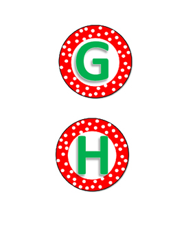 Christmas Ball Letters