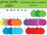 Christmas Ball Ornament Clip Art Set