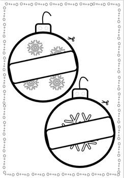 Christmas Balls Craft Activity - Pre-k, Kinder, Grades 1, 2 and 3
