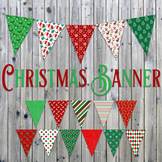 Christmas Banner - Printable - Includes 16 different Flags in 3 sizes