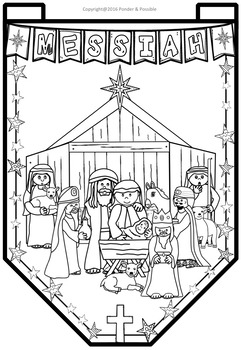 Christmas Nativity Banner Templates ~ The birth of Jesus