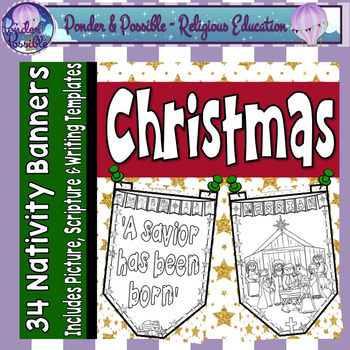 Christmas Banner Templates ~ Picture, Scripture Reference