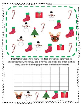 Christmas Bar Graph and Counting Activities