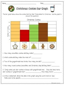 Christmas Bar Graphs Amp Pictographs 3rd Grade By