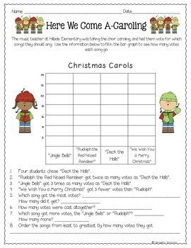 Christmas Bar Graphs & Pictographs - 3rd Grade