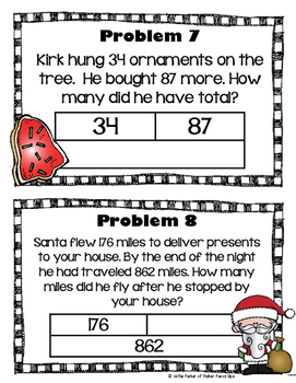 Christmas Bar Model Scoot - Addition and Subtraction