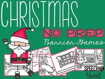 Christmas Barrier Games {NO PREP}