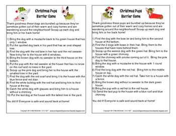 Christmas Barrier Games {for language, fluency & articulation!}
