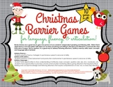 Barrier Games for Christmas Speech and Language Therapy