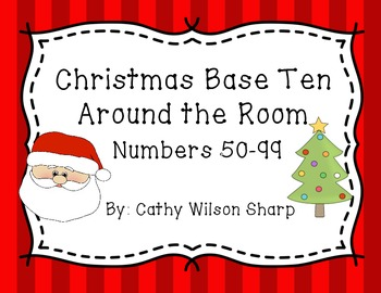 Christmas Base Ten Around the Room Station