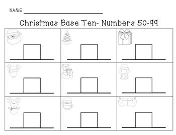 Christmas Base Ten Around the Room Station