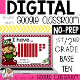 Christmas Base Ten Digital Task Cards for Google Classroom