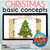 Christmas Basic Concepts Boom Cards for Speech Therapy