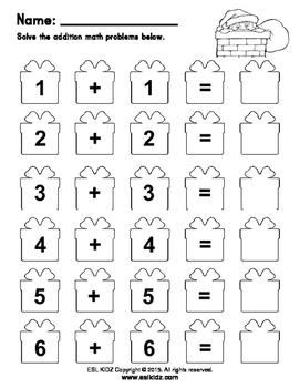Christmas Basic Math and Templates